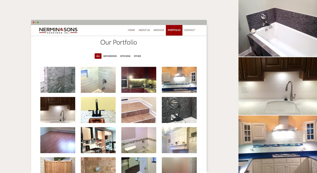 Nermin & Sons Web Portfolio Page