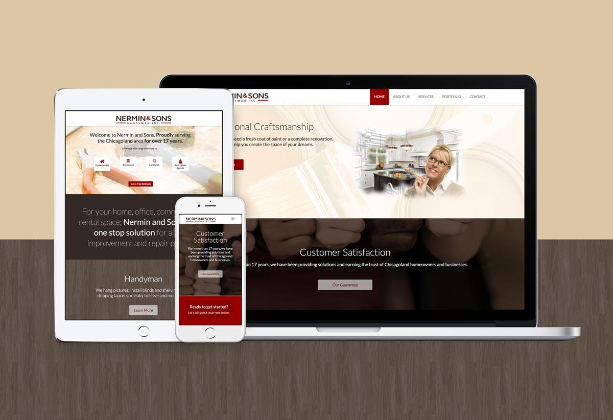 Nermin & Sons responsive website